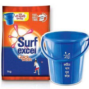 Surf Excel 1kg Get 12Ltr.Bucket Combo offer*
